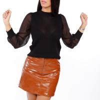 Picture of Glossy Leather Mini Skirt - Pack of 12