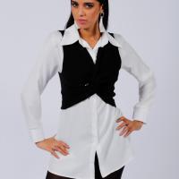 Picture of Knitted Twirled Centre Vest, Black - Pack of 12