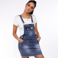 Picture of Denim Pinafore Overall Dungaree, Blue - Pack of 12