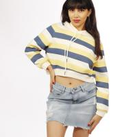 Picture of Tri-Colored Striped Crop Hoodie - Pack of 12