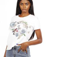 Picture of Just For You Printed T-Shirt, White - Pack of 12