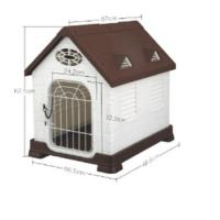 Picture of JD Wanyuanhong Dog Cage, Brown & White