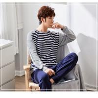 Picture of JD Mens LS Pajama Set - ZD20217, Grey