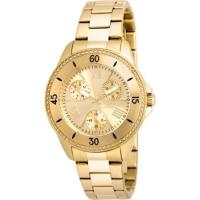 Picture of Invicta Women's 21683 Angel Quartz 3 Hand Gold Dial Watch