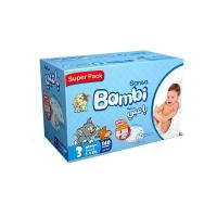 Picture of Sanita Bambi Baby Diapers Super Pack, Medium - Carton Of 140 Pcs
