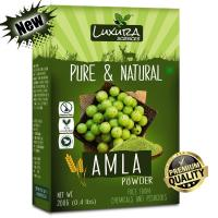 Picture of Luxura Sciences Pure Amla Powder For Hair Growth, 200gm - Light Green
