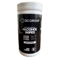Picture of DC Group Cannister Tub Isopropyl Wipes, 200 Wipes - Carton Of 6 Packs