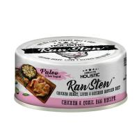 Picture of Absolute Holistic RawStew, Chicken & Quail Eggs Recipe, 80g - Carton Of 24 Cans