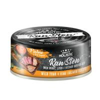 Picture of Absolute Holistic RawStew,Wild Tuna& King Salmon Recipe, 80g - Carton Of 24 Cans