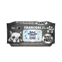 Picture of Absolute Pet Absorb Plus Charcoal Baby Powder Pet Wipes - Carton of 12 Packs