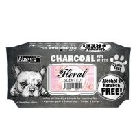 Picture of Absolute Pet Absorb Plus Charcoal Floral Pet Wipes - Carton of 12 Packs