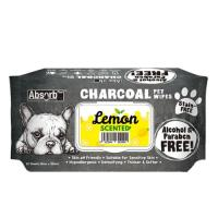 Picture of Absolute Pet Absorb Plus Charcoal Lemon Pet Wipes - Carton of 12 Packs