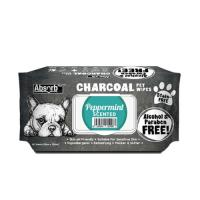 Picture of Absolute Pet Absorb Plus Charcoal Peppermint Pet Wipes - Carton of 12 Packs