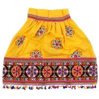 Picture of Fancy Dess Wale Full Embroided Girls Ethnic Lehenga Choli and Dupatta Colour Yellow (10-12 Years)