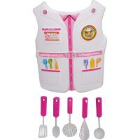 Picture of Fancy Dess Wale Plastic Role Play Vest for Kids-Chef, White