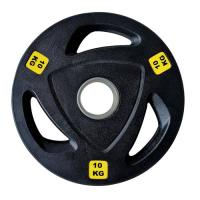 Picture of 1441 Fitness Tri-Grip Olympic Rubber Plates, 10 Kg - Box Of 2 Pcs