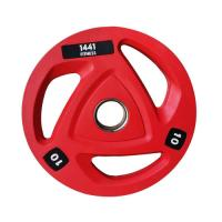 Picture of 1441 Fitness Tri-Grip Olympic Rubber Plates, Red, 10 Kg - Box Of 2 Pcs