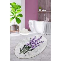 Picture of Etgbuy Lavender Oval Model 80 x 100 cm 31''x39'' Non-Slip Area Rug