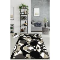 Picture of Etgdecor Abstract Black Model 120 x 180 cm Decorative Non-Slip Area Rug