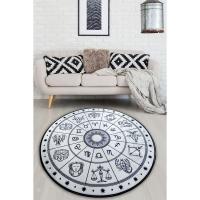 Picture of Etgdecor Horoscope Model 120 x 120 cm Round Non-Slip Area Rug