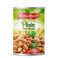 Picture of Amazon Ready to Eat Plain Fava Beans - 400 g, Carton of 24 Pack