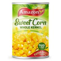 Picture of Amazon Ready to Eat Sweet Corn Whole Kernel - 400 g, Carton of 24 Pack