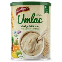 Picture of Amazon Umlac Baby Cereal with Fruits - 400 g, Carton of 12 Packs