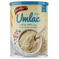 Picture of Amazon Umlac Baby Cereal with Milk - 400 g, Carton of 12 Pack