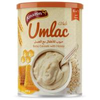 Picture of Amazon Umlac Baby Cereal with Honey - 400 g, Carton of 12 Pack