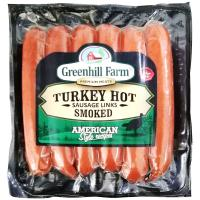 Picture of Greenhill Farm Smoked Hot Turkey Sausage Links, 396g - Carton of 30