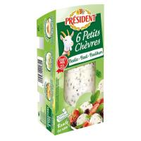Picture of President Basil Fresh Goat Cheese, 6 Pcs, 100g - Carton of 8