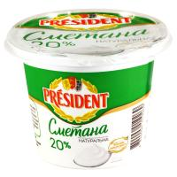 Picture of President 20% Sour Cream, 200g - Carton of 8