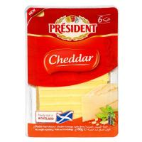 Picture of President Cheddar Cheese Slices, 150g - Carton of 10