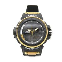 Picture of Exponi Waterproof Digital Watch with Box, Black & Yellow - Carton of 50 Pcs