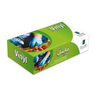 Picture of Al Bayader Disposable Vinyl Gloves, Medium, Blue - Carton of 10 Packs