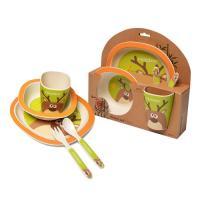 Picture of Fissman Bamboo Fibre Deer Cartoon Dinner Set for Kids, Set of 5 Pcs, Carton Of 12 Sets