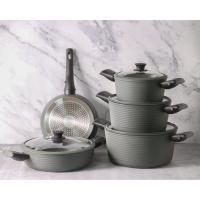 Picture of Fissman Aluminium Non Stick Brilliant Cookware Set, Set of 9 Pcs