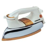 Picture of Nikai Dry Iron With Thermal Fuse, 1200W, White & Gold, NDI724