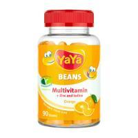 Picture of YaYa Zinc & Iodine Orange Multivitamin Beans, 90 Beans