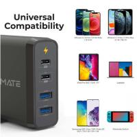 Picture of Promate 4 Port Wall Charger With 2xUSB-C and 2xUSB-A port, 75W