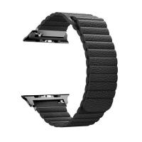 Picture of Promate Leather Band with Magnetic Lock for Apple Watch Series 42/44mm, Black