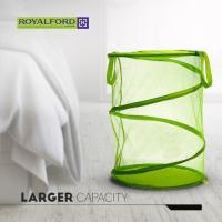 Picture of Royalford Collapsible Mesh Laundry Hamper, RF6802, Green