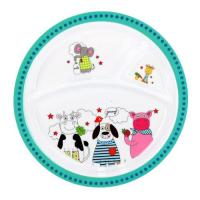 Picture of Royalford Melamine Ware 3-Section Round Baby Plate, RF7248, 21.3x2cm
