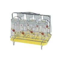 Picture of Royalford Stainless Steel 8 Glass Stand Holder with Drainer, RF1155GH8
