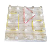 Picture of Toddle Care Wooden Isometric Pin Board with the Elastic Rubber Bands