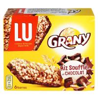 Picture of LU Grany Puffed Rice And Chocolate Cereal Bars, 6 Pcs, 125g - Carton of 16