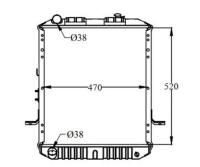 Picture of Dolphin Copper Brass Radiator for Mitsubishi, 1510586
