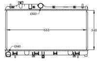 Picture of Dolphin Aluminum Plastic Radiator for Mitsubishi , 1600564