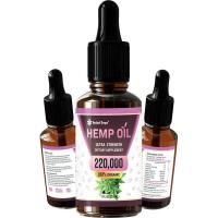 Picture of Hemp Oil 100% Organic Ultra Strength Dietary Supplement Extract - 30ml