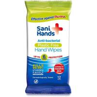 Picture of Sani Hands Anti-Bacterial Hand Cleansing Wipes - White, 12